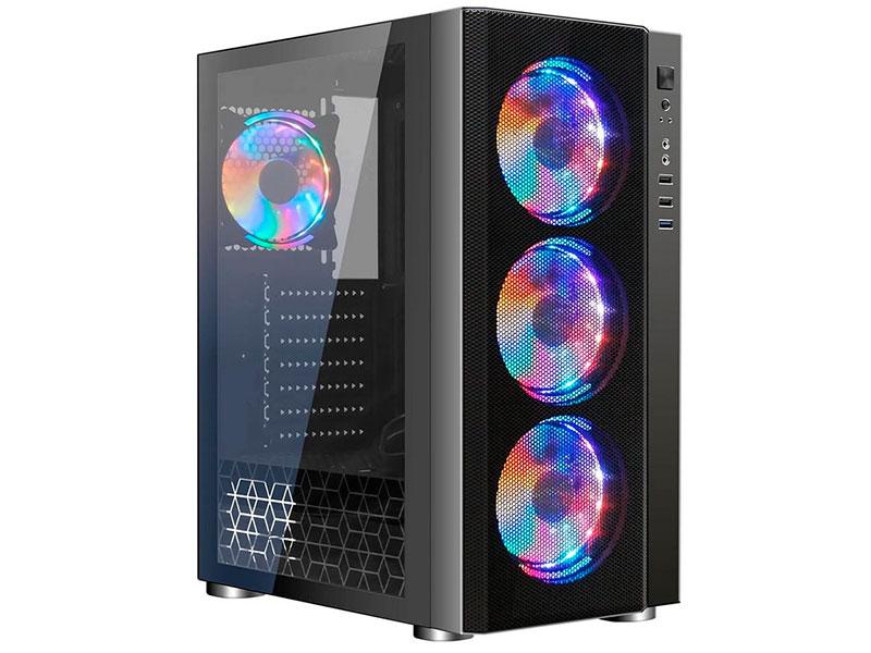 Корпус Ginzzu CL300 RGB Black без БП с окном