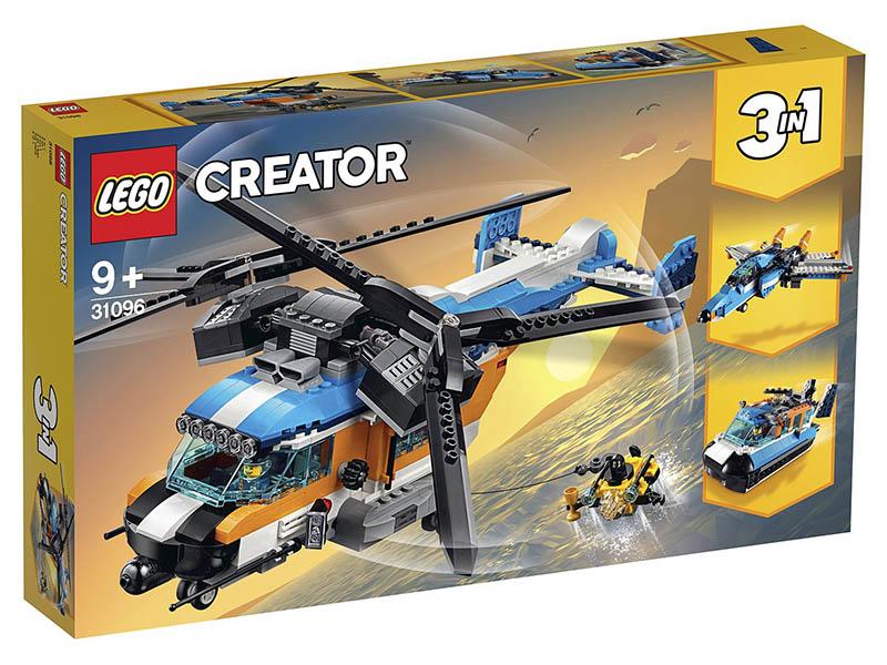 Конструктор Lego Creator Двухроторный вертолёт 31096 lego city 60179 вертолёт скорой помощи lego