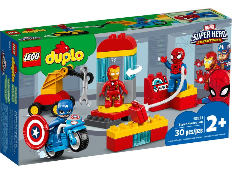 Конструктор Lego Duplo Super Heroes Лаборатория супергероев 10921 цена и фото