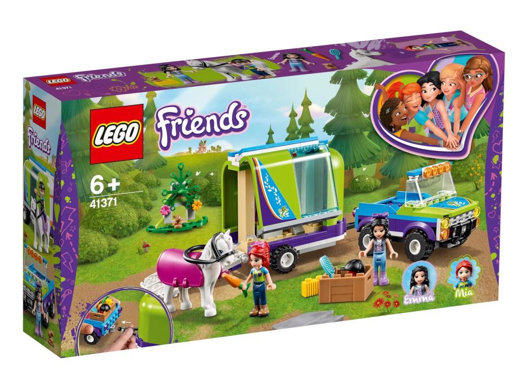Конструктор Lego Friends Трейлер для лошадки Мии 41371 конструктор lego friends катер для спасательных операций 908 дет 41381