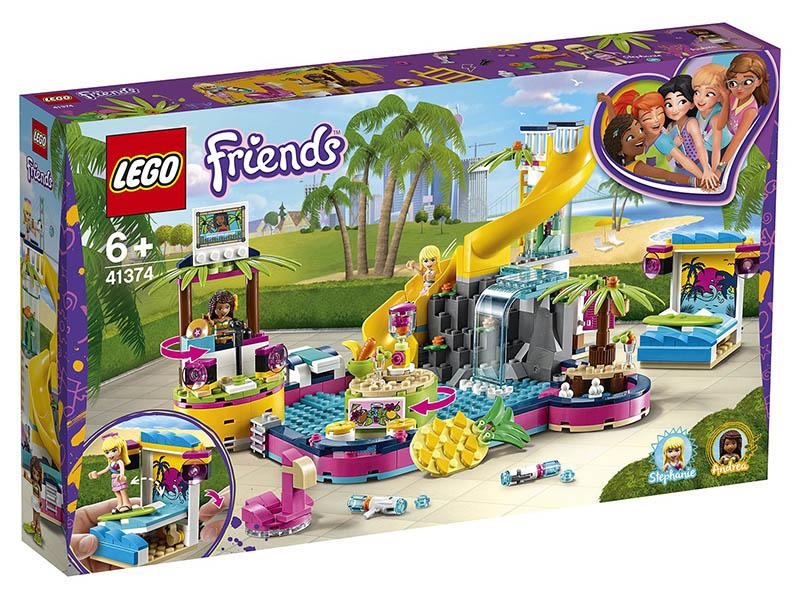 Конструктор Lego Friends Вечеринка Андреа у бассейна 41374 фото