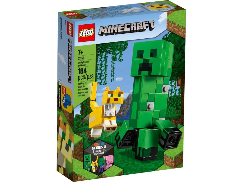 Конструктор Lego Minecraft Большие фигурки Крипер и Оцелот 21156