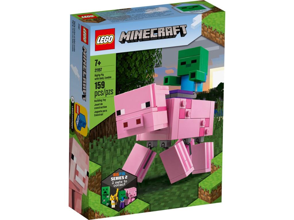 Конструктор Lego Minecraft Большие фигурки Свинья и Зомби-ребёнок 21157