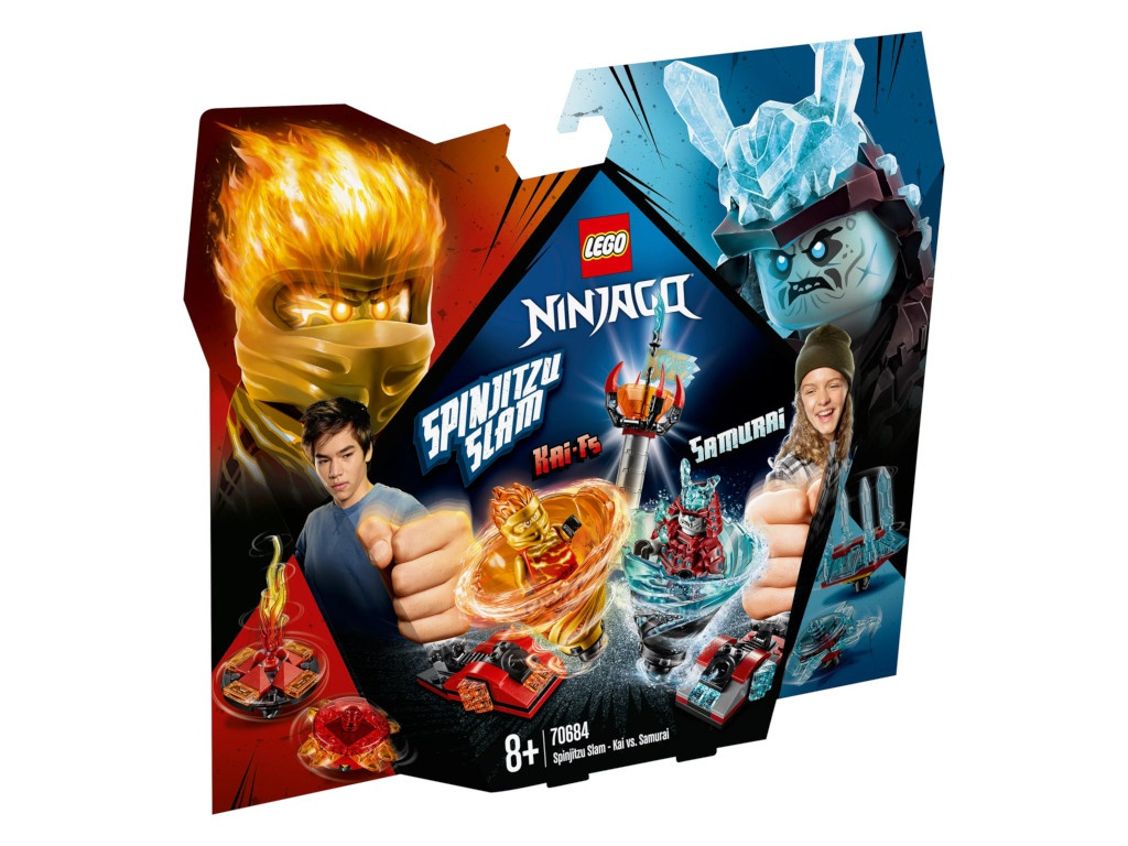 цена на Конструктор Lego Ninjago Бой мастеров кружитцу Кай против Самурая 70684