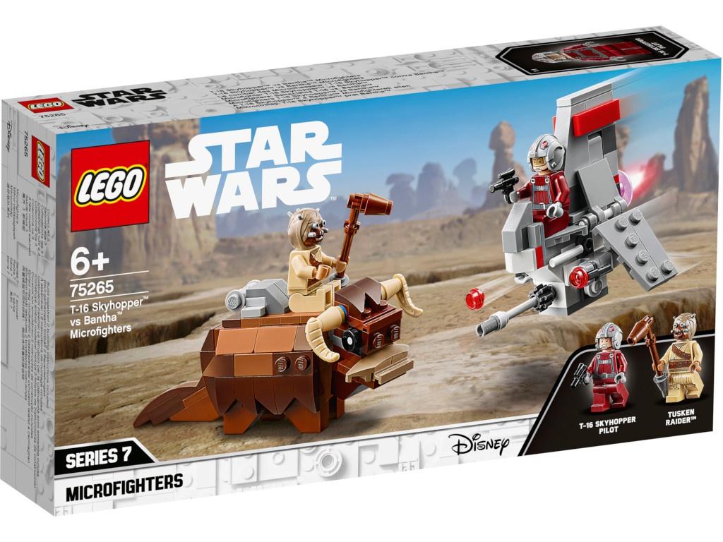 Конструктор Lego Star Wars Микрофайтеры Скайхоппер T-16 против Банты 75265