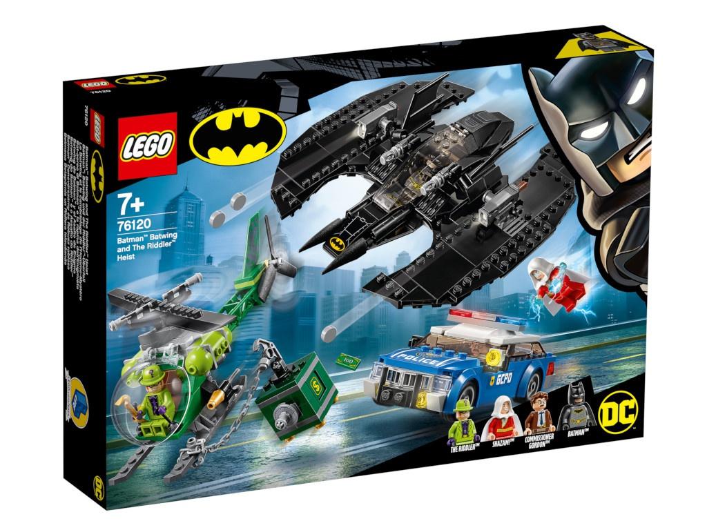 Конструктор Lego Super Heroes Бэткрыло Бэтмена и ограбление Загадочника 76120 цена и фото