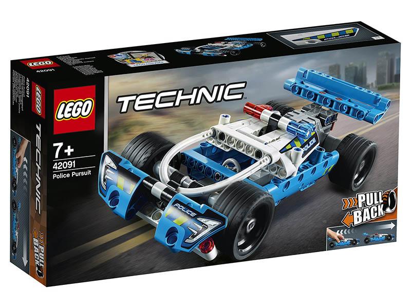 Конструктор Lego Technic Полицейская погоня 42091 конструктор lego city погоня по грунтовой дороге 297 элементов 60172
