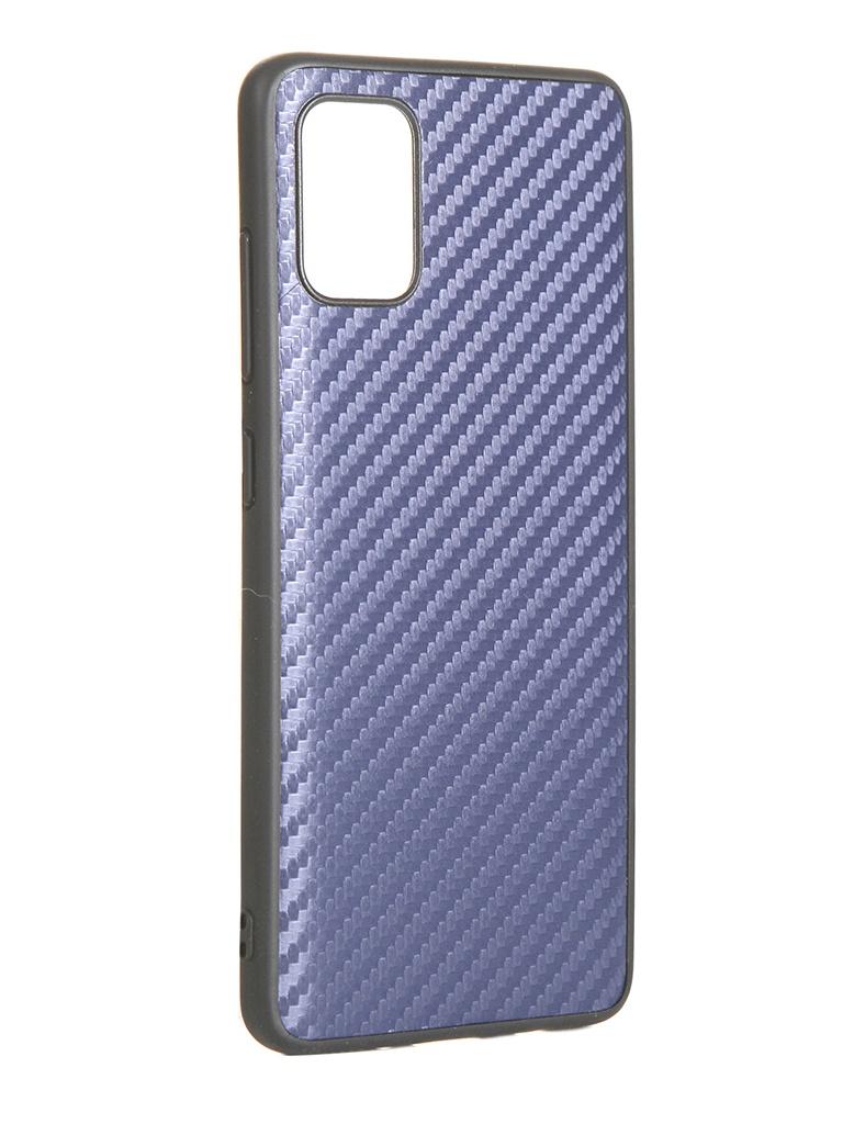 Чехол G-Case для Samsung Galaxy A51 SM-A515F Carbon Dark Blue GG-1205