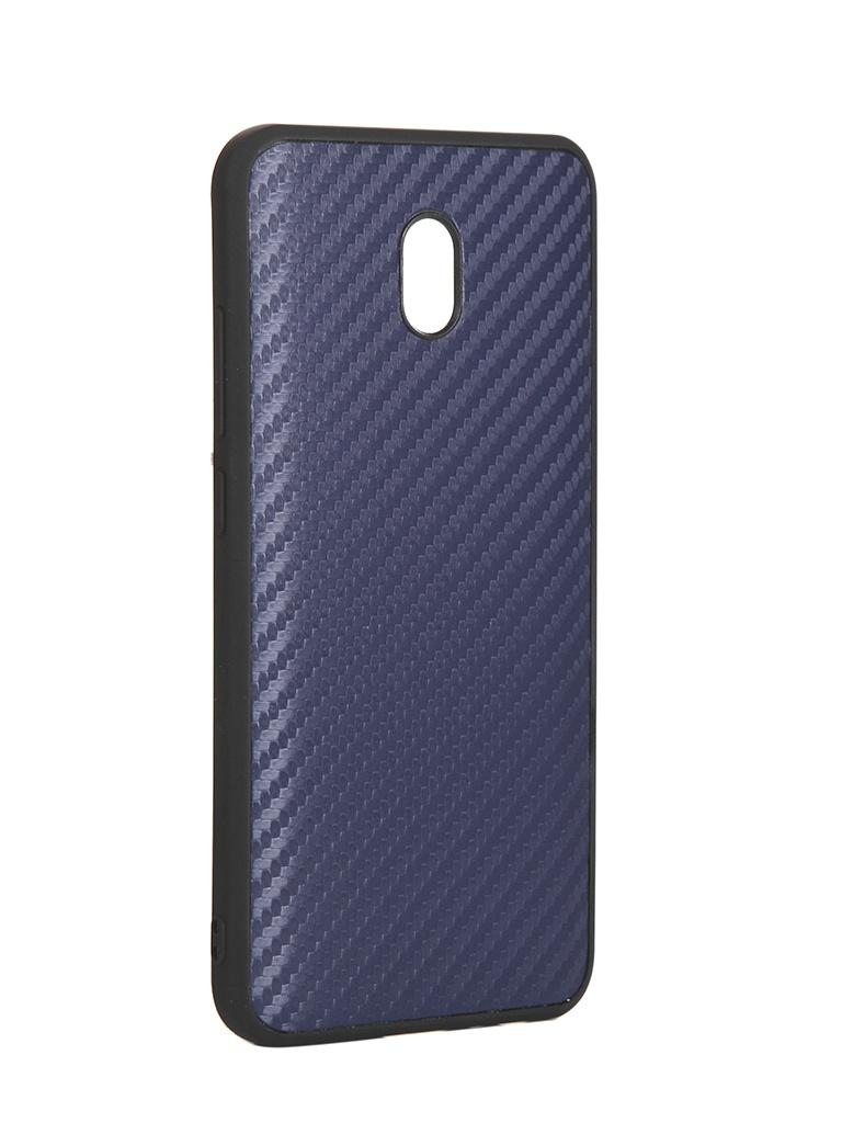 Чехол G-Case для Xiaomi Redmi 8A Carbon Dark Blue GG-1188