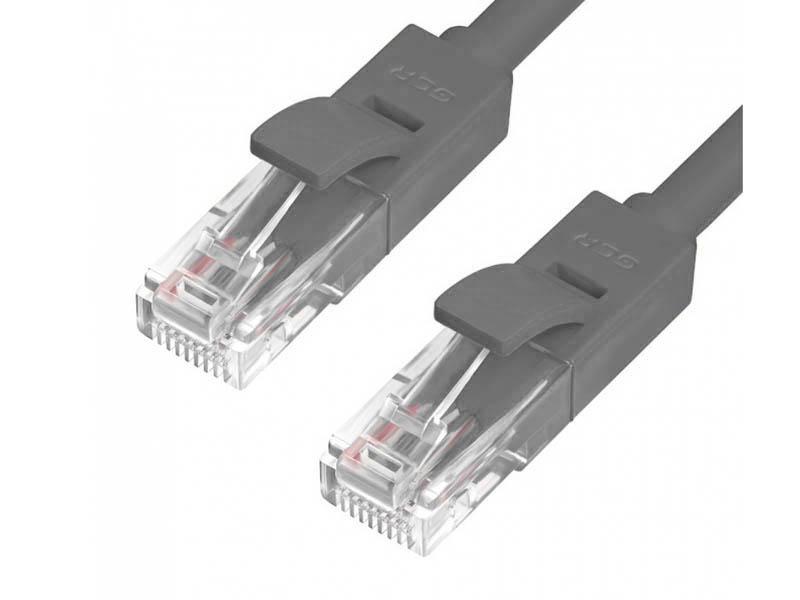 Сетевой кабель Greenconnect LSZH UTP 24AWG cat.5e RJ45 T568B 0.3m Grey GCR-51004