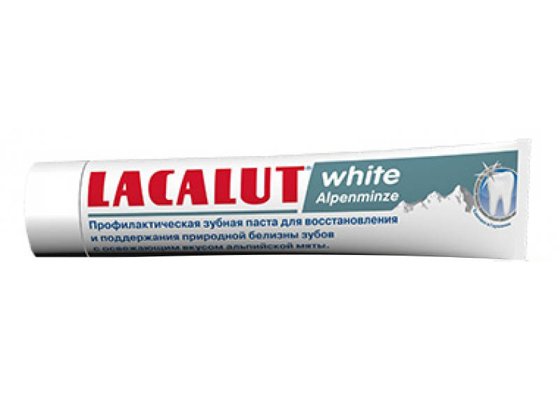 Зубная паста Lacalut Уайт Альпийская мята 75мл 666037