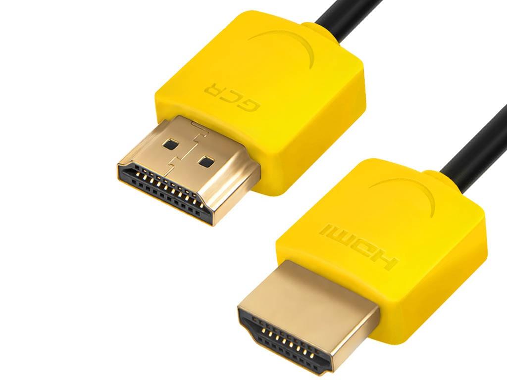 Аксессуар Greenconnect Slim HDMI v2.0 0.5m Yellow GCR-51584