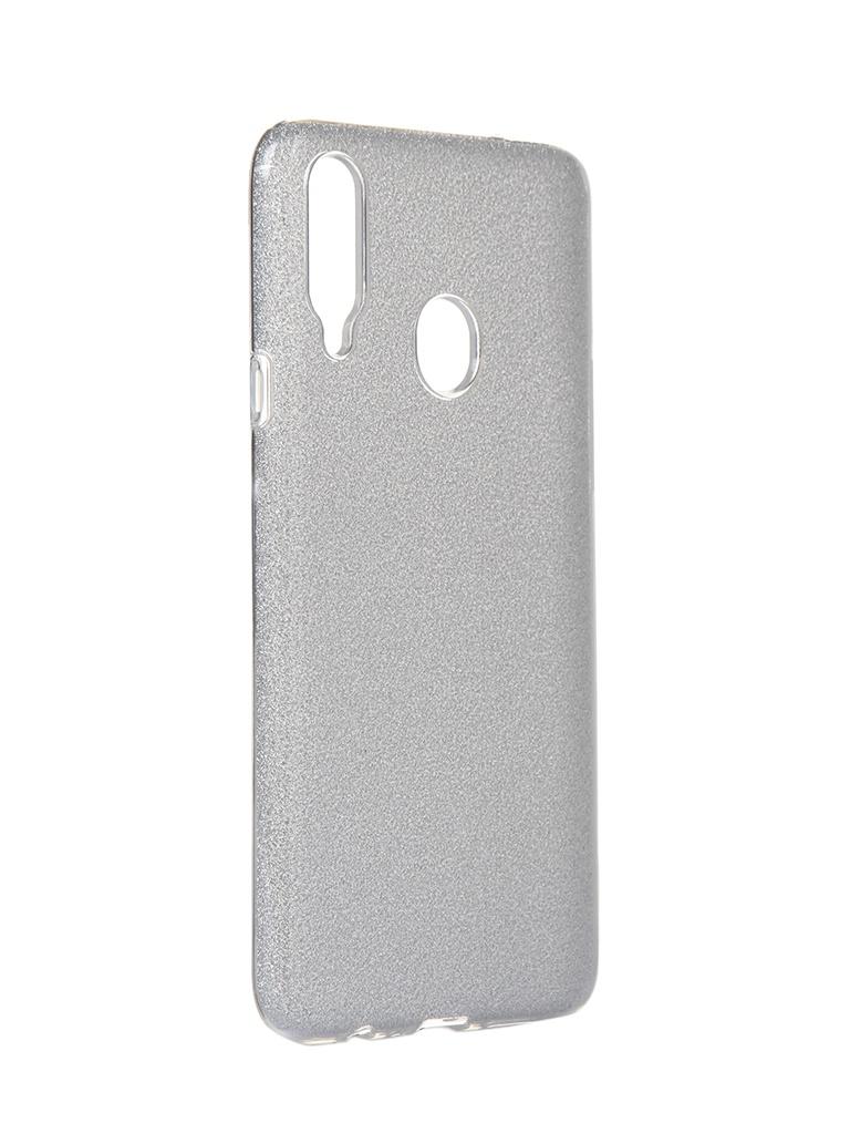Чехол Neypo для Samsung Galaxy A20s 2019 Brilliant Silicone Silver Crystals NBRL16068