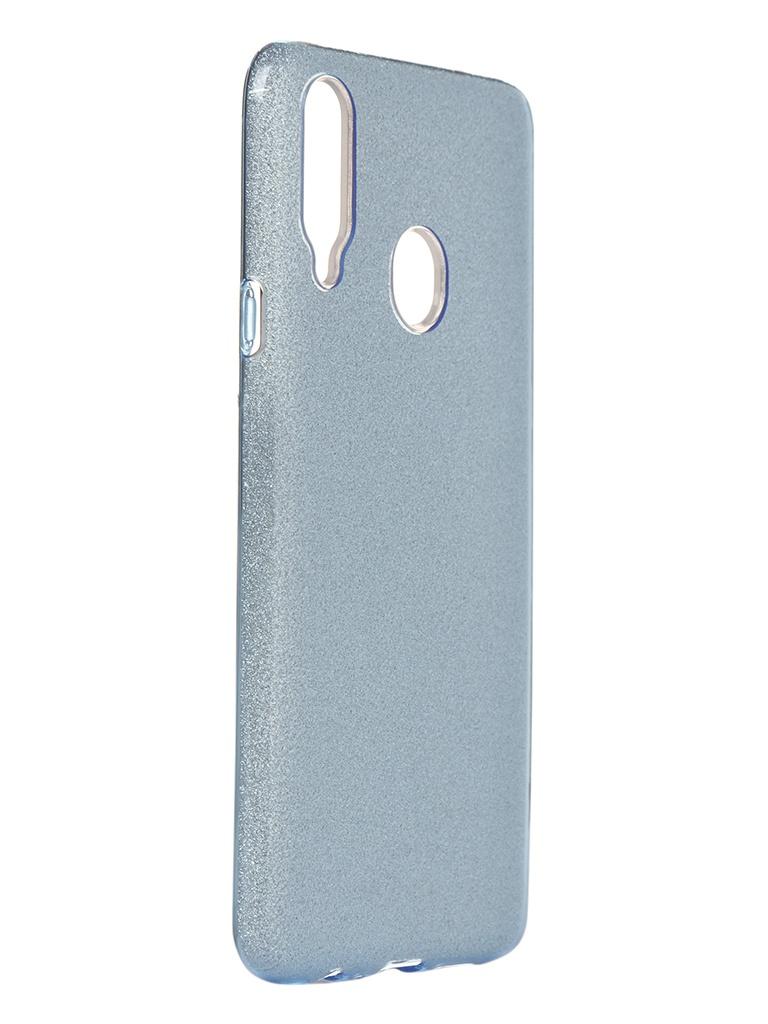 Чехол Neypo для Samsung Galaxy A20s 2019 Brilliant Silicone Light Blue Crystals NBRL16064