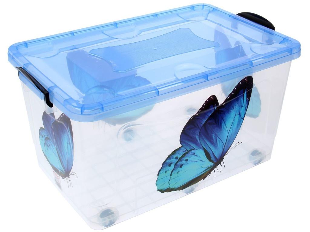 Контейнер для хранения Росспласт 50L Бабочка Transparent