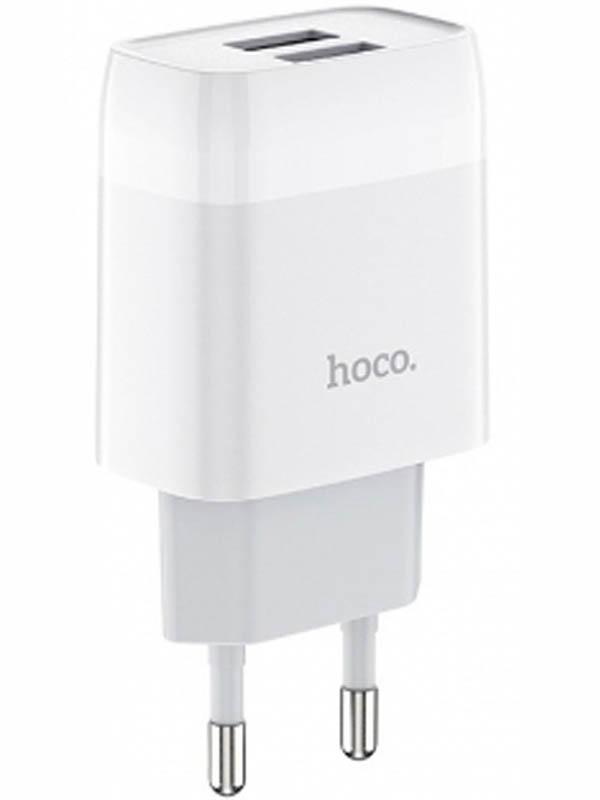 Зарядное устройство Hoco C73A Glorious 2xUSB White 115178