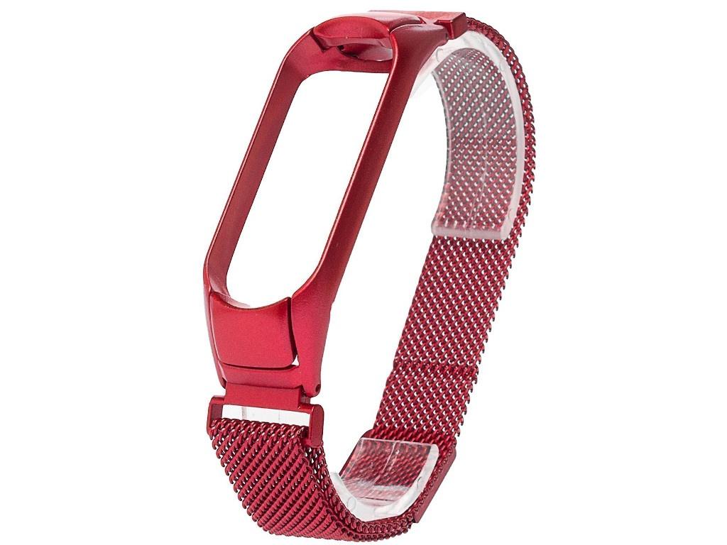 Aксессуар Ремешок Activ для Xiaomi Mi Band 3/Mi 4 Metal Mesh Strap Red 111857