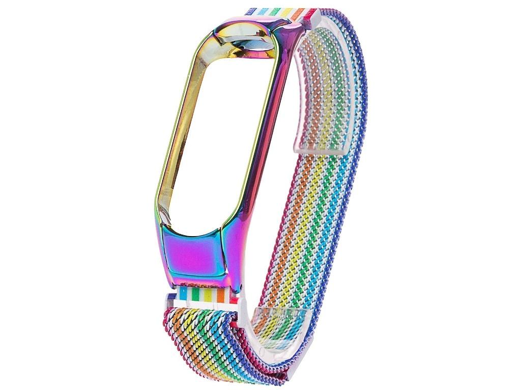 Aксессуар Ремешок Activ для Xiaomi Mi Band 3/Mi 4 Metal Mesh Strap Rainbow 111860