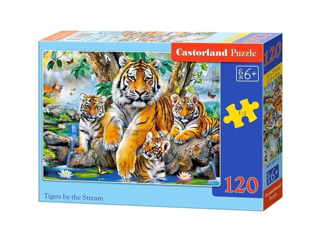 Пазл Castorland Midi Семья тигров у ручья B-13517