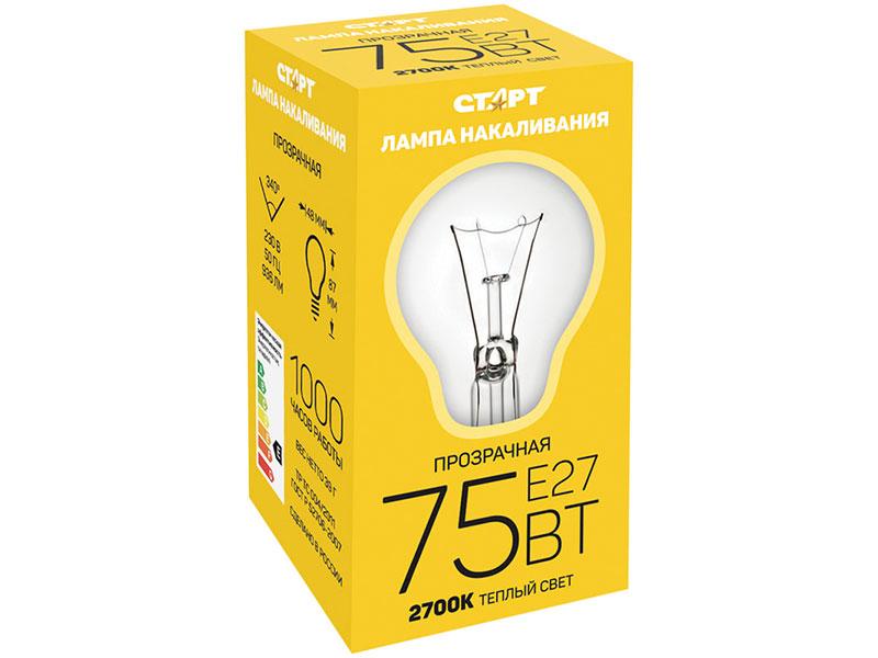 Лампочка Старт Б 75W E27 - лампа накаливания 10476/6288/11961/6287