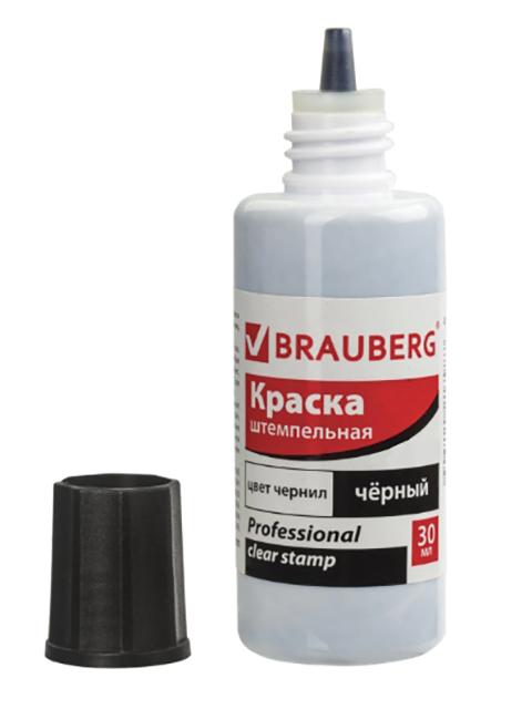 Краска штемпельная Brauberg Professional Clear Stamp 30ml Black 227983