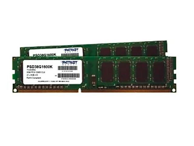 Модуль памяти Patriot Memory Signature DDR3 DIMM 1600Mhz PC3-12800 CL11 - 8Gb KIT (2x4Gb) PSD38G1600K