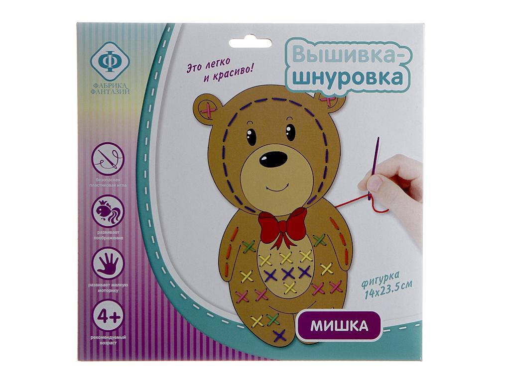 цена на Набор для творчества Фабрика Фантазий Вышивка-шнуровка Мишка 87270