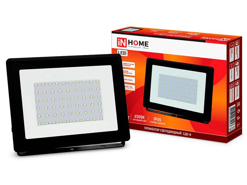 Прожектор In Home СДО-8 50W 230V 6500К 4750Lm IP65 4690612030043