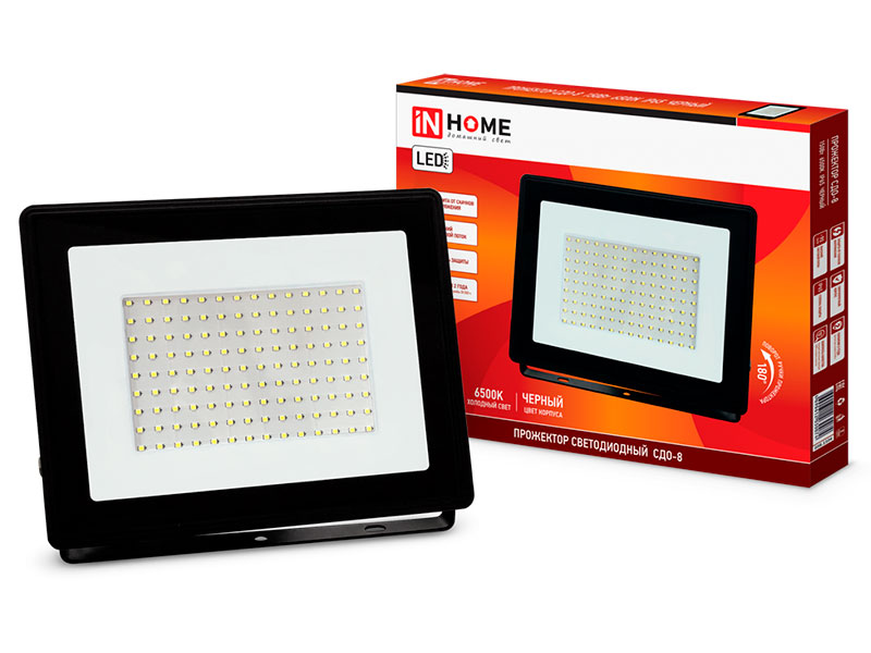 Прожектор In Home СДО-8 100W 230V 6500К 9500Lm IP65 4690612030067