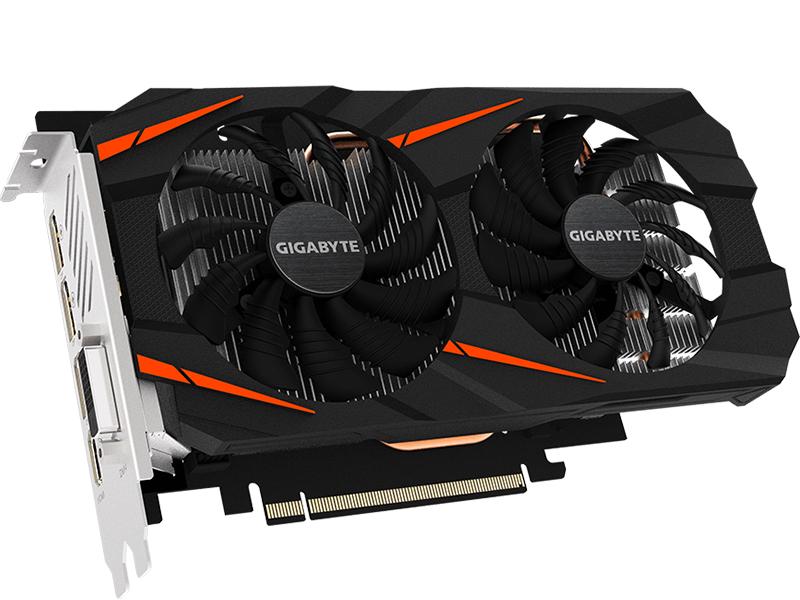 Видеокарта GigaByte GeForce GTX 1060 Windforce 2X OC D5X 6G 1556Mhz PCI-E 3.0 6144Mb 8008Mhz 192 bit DVI HDMI 3xDP GV-N1060WF2OC-6GD 2.0