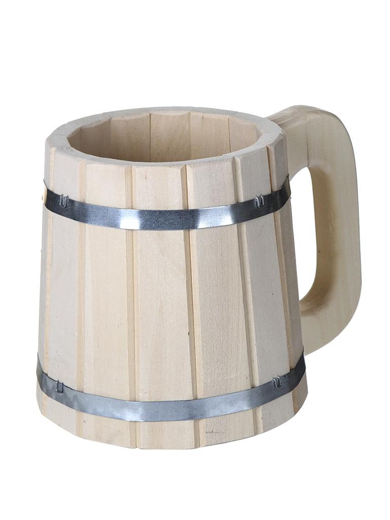 Кружка бондарная Банные штучки 1L 3719 травяной букет для бани пижма банные штучки 33064