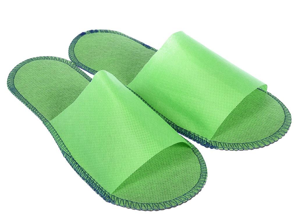 Тапочки для бани и сауны Банные штучки одноразовые Green 32341 полотенце простыня для бани и сауны банные штучки цвет фиолетовый 80 х 150 см