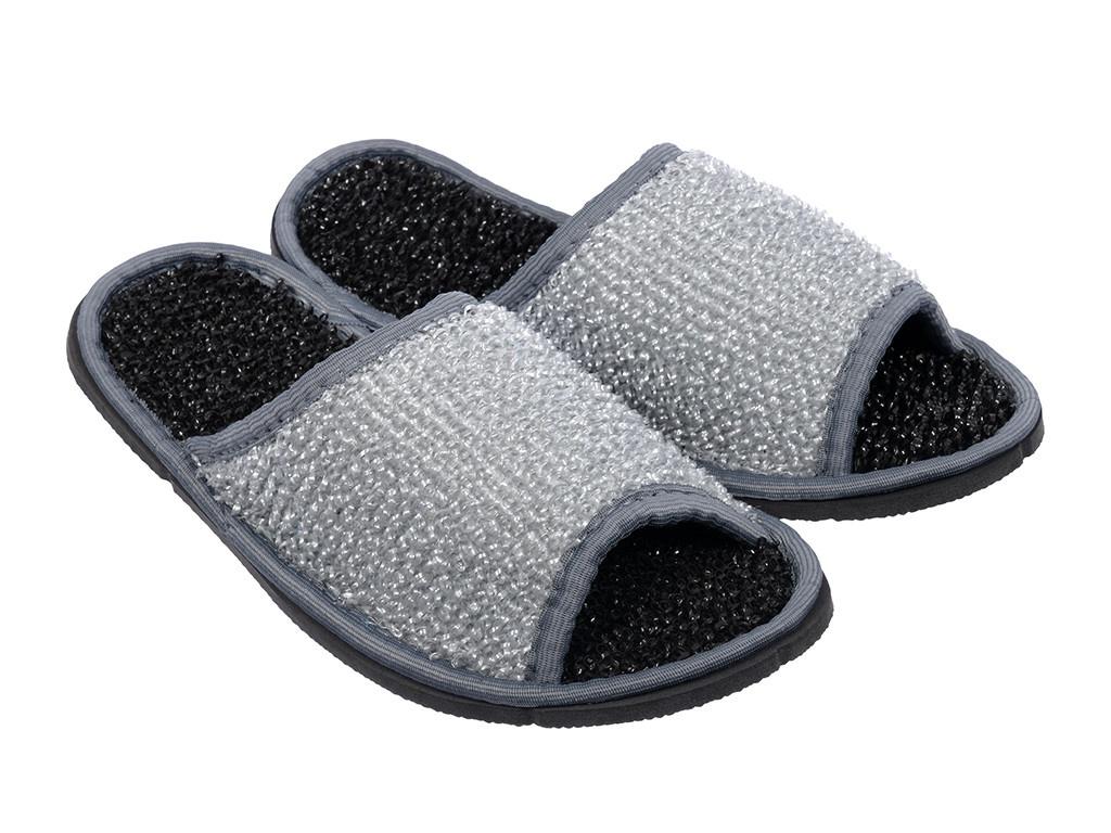 Тапочки для бани и сауны Банные штучки мужские, массажные, полипропиленовые Grey-Black 32345 полотенце простыня для бани и сауны банные штучки цвет фиолетовый 80 х 150 см