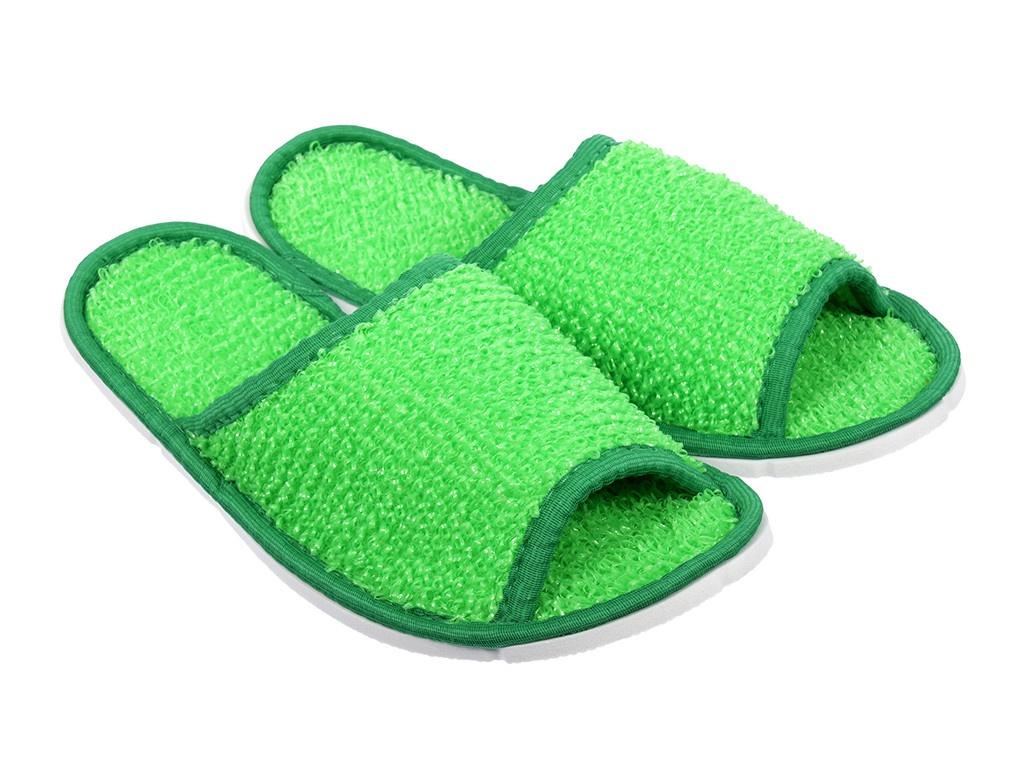 Тапочки для бани и сауны Банные штучки мужские, массажные, полипропиленовые Green 32344 полотенце простыня для бани и сауны банные штучки цвет фиолетовый 80 х 150 см