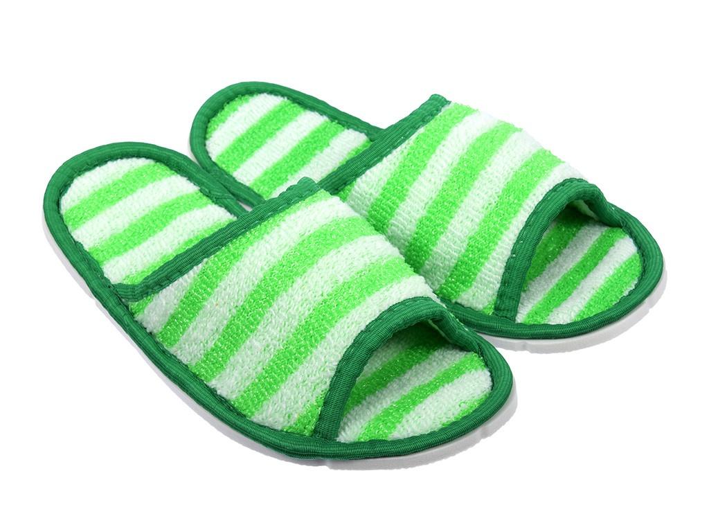Тапочки для бани и сауны Банные штучки женские, массажные, полипропиленовые White-Green 32343 полотенце простыня для бани и сауны банные штучки цвет фиолетовый 80 х 150 см