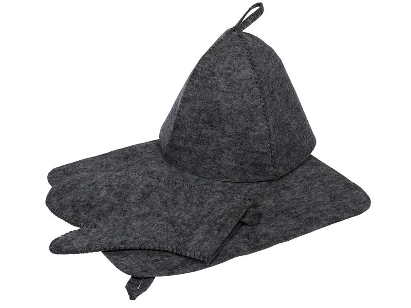 Набор Hot Pot Шапка, коврик, рукавица Grey 41184