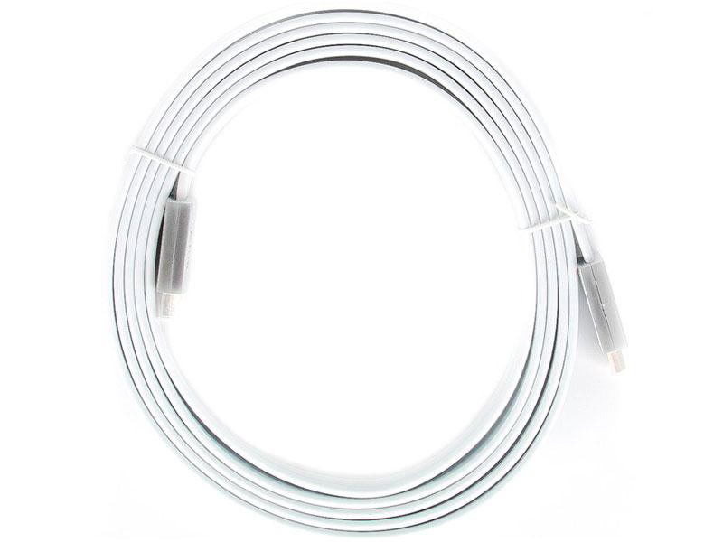 Аксессуар AOpen HDMI 19M v2.0 3m Silver-White ACG568F-S-3M