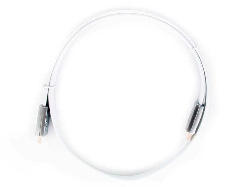 Аксессуар AOpen HDMI 19M v2.0 1m Silver-White ACG568F-S-1M