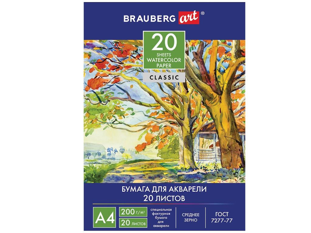 Папка для акварели Brauberg У околицы A4 20 листов 111073