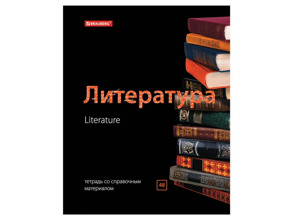 Тетрадь Brauberg Black & Bright Литература 48 листов 403555