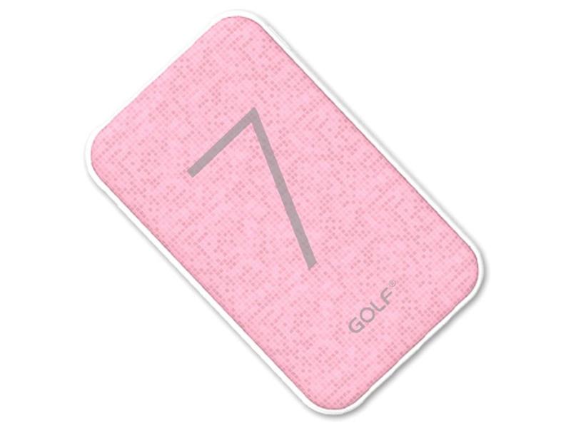Внешний аккумулятор Golf Edgee Power Bank G25 7000mAh Pink