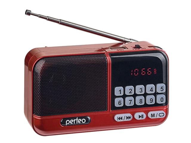 Радиоприемник Perfeo Aspen Red PF_B4058
