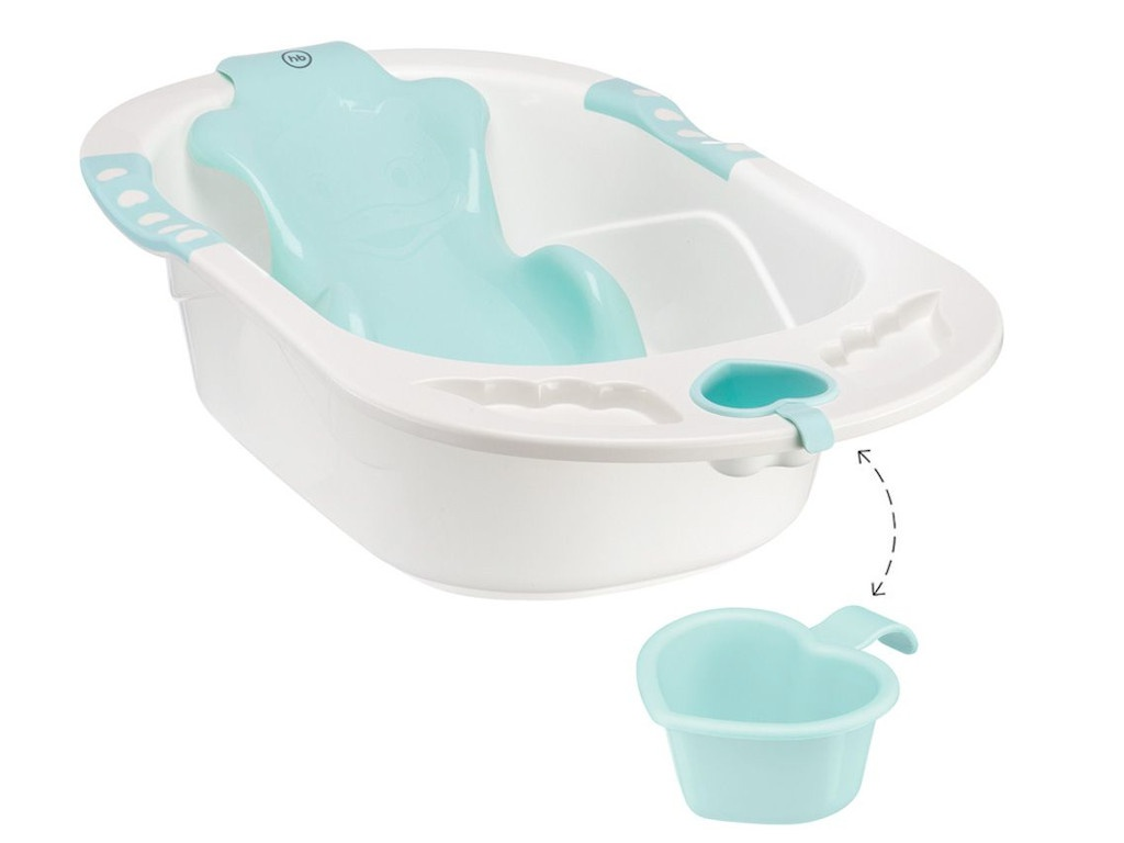 Детская ванна с анатомической горкой Happy Baby Bath Comfort 4690624021046