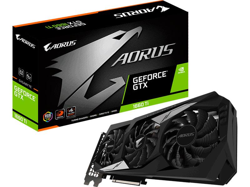 Видеокарта GigaByte GeForce GTX 1660 Ti AORUS 1890Mhz PCI-E 3.0 6144Mb 12000Mhz 192 bit HDMI 3xDP GV-N166TAORUS-6GD Выгодный набор!!!