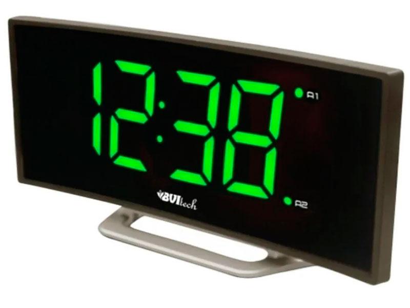 Часы BVItech BV-412GMK Green-Black bvitech электронные настольные часы будильник bv 19gmx