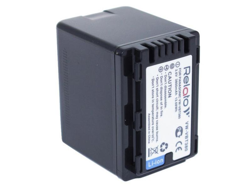 Аккумулятор Relato VW-VBT380 (схожий с Panasonic VW-VBT380)