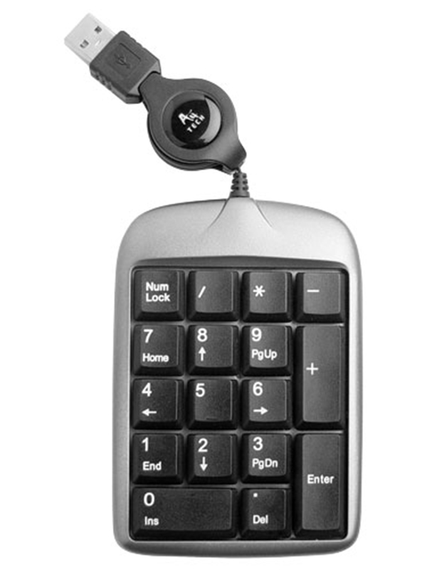 Клавиатура A4Tech A4 TK-5 Silver-Black USB