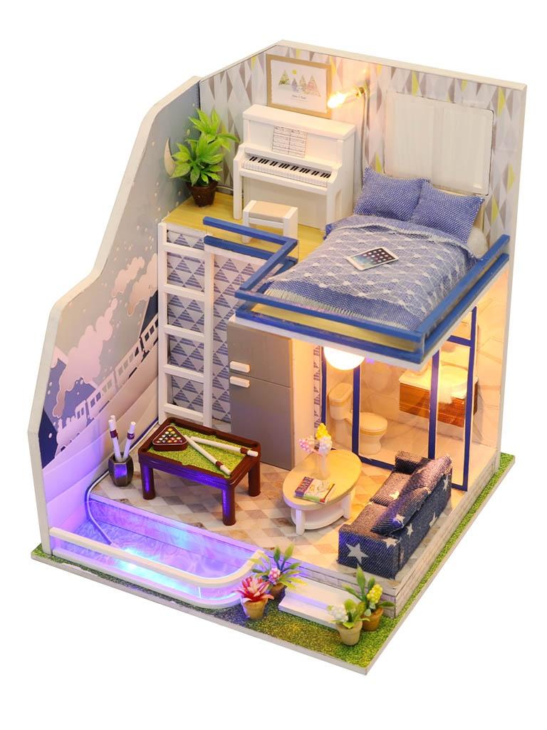 Сборная модель DIY House Неоновый лофт M042