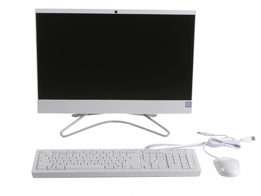 Моноблок HP 22-c0163ur/s White 9CN87EA (Intel Core i5-9400T 1.8 GHz/8192Mb/256Gb SSD/Intel HD Graphics/Wi-Fi/Bluetooth/Cam/21.5/1920x1080/DOS)