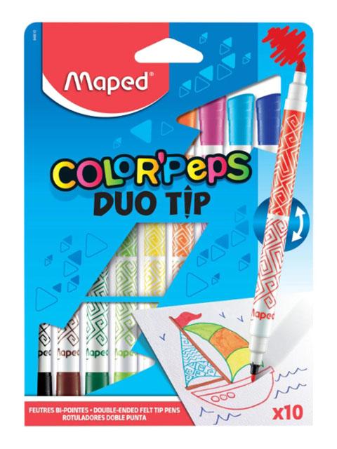 Фломастеры двусторонние Maped Colorpeps Duo 10 цветов 849010